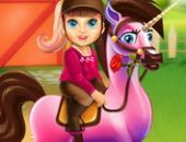Barbie Poney Soins