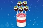 Super Le Noël Pudding Gâteau Pops