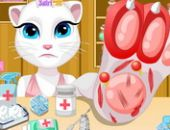 Talking Angela Blessure Au Pied